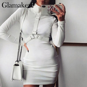 Glamaker Turtleneck knitted short dress - E.Y.U Store