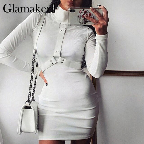 Glamaker Turtleneck knitted short dress