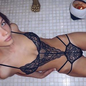 Erotic Underwear Women Bra Lady Underwear Sexy Lingerie Lace Babydoll Deep V Erotic Underwear Lingerie Solid Color Bra