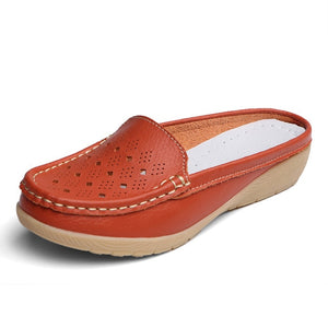 Real Leather Moccasins Women Loafers - E.Y.U Store