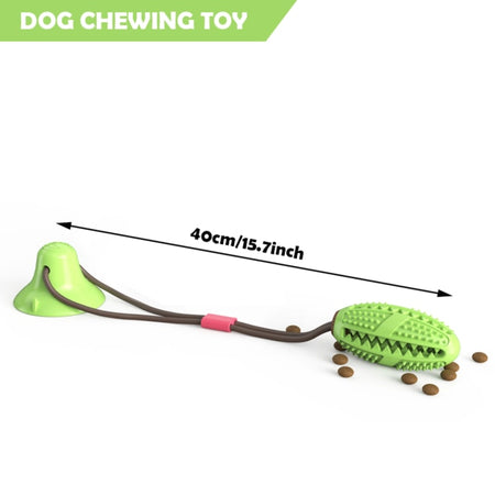 Pet Dog Toys Silicon Suction Cup Tug dog toy Dogs Push Ball Toy Pet Tooth Cleaning Dog Toothbrush for Puppy large Dog Biting Toy - E.Y.U Store