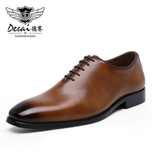 DESAI Men's Business Dress Casual Shoes For Men Soft Genuine Leather Fashion Mens Comfortable Oxford Shoes - E.Y.U Store