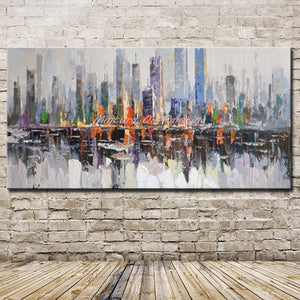 Mintura New York Skyline Architecture Abstract Wall Art