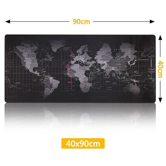 Gaming Mouse Pad Computer Mousepad Large Mouse Pad Gamer RGB World Map Big Mouse Carpet PC Desk RGB Mat - E.Y.U Store