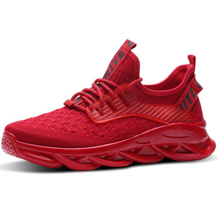 Men Sneakers outdoor men casual shoes Breathable Men Vulcanize Shoes Lace Up Red shoes Men Mesh Shoes Fashion Casual No-slip - E.Y.U Store