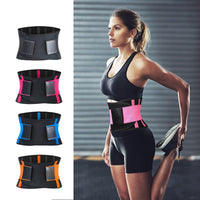 Adjustable Waist Back Support Waist Trainer Trimmer Belt Sweat Utility Belt for Sport Gym Fitness Weightlifting Tummy Slim Belts - E.Y.U Store
