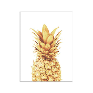 Pink Ananas Posters Plants Pineapple Wall Art - E.Y.U Store