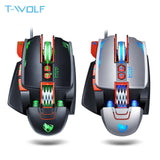 NEW V9 USB Wired Programmable Gaming Mouse 3200DPI Adjustable Backlight 8 Custom Button Mechanical Gaming Mice for Pro Gamer/LOL