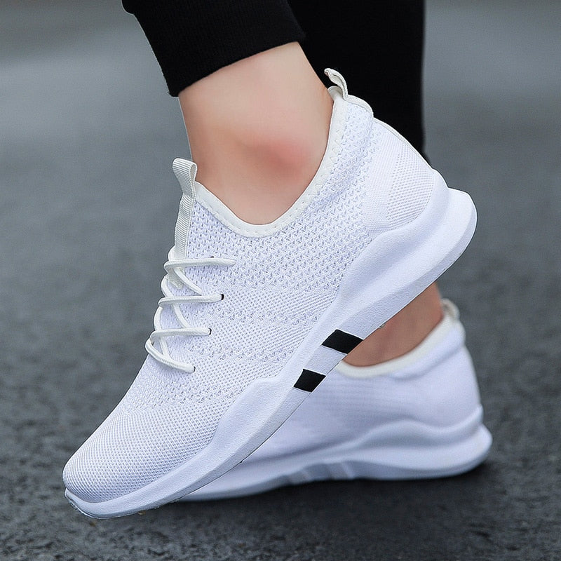 Spring & Summer Fashion Mens Casual Shoes White Lace-Up Breathable Shoes Sneakers basket tennis Mens Trainers Zapatillas Hombre - E.Y.U Store