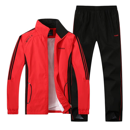 Spring Autumn Men Sportswear 2 Piece Set Sporting Suit