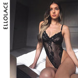 Ellolace Neon Summer 21 Colors Lace Bodysuit Women Floral Embroidery Bow Tie Transparent Sexy Bodysuit Jumpsuit Overalls Party