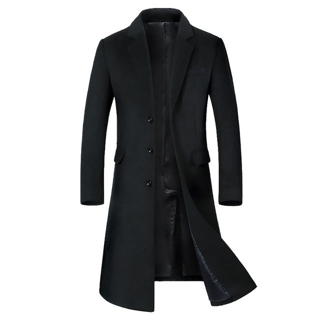 Men's Long Casual Overcoat