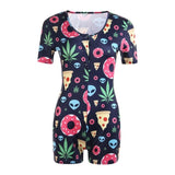 2020 New Women's Lady Sexy Romper Bodycon Casual Jumpsuit Romper Long Sleeve Shorts Leotard Home Wear Tracksuit Playsuit Pajama