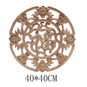 Wood Applique Onlay Wood Decal