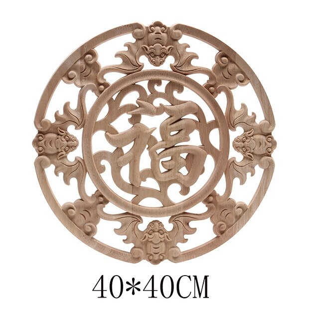 Wood Applique Onlay Wood Decal - E.Y.U Store