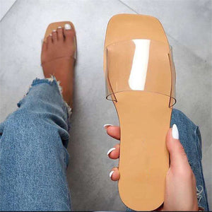 Women Sandals  Style Summer Shoes for Women Flat Sandals Rubber Shoes 2020 Leather Slides Plus Size Soulier Femme