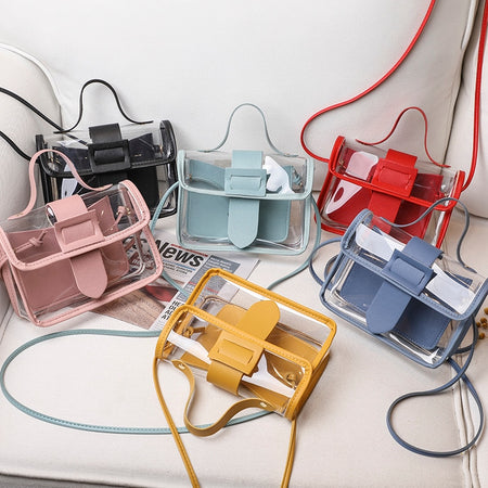 2020 Fashion Trend Ladies Transparent Jelly Candy Color Small Bag