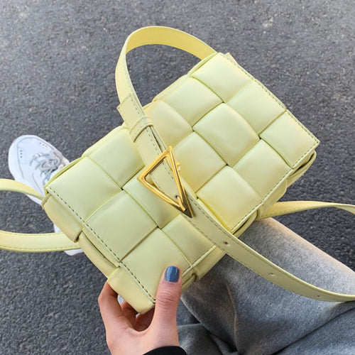Weave Flap Bags Square Crossbody bag