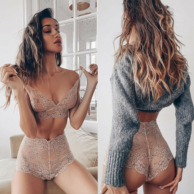 2PCS Bikini Cover Up Sexy Lingerie Set Dress Women Nightwear Underwear Sleepwear + G-string Babydoll Sexy Lady - E.Y.U Store