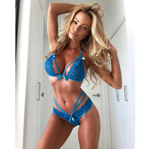 Fashion Sexy Women Lingerie Nightwear Sleepwear Dress Ladies Babydoll Lace Underwear G-string Outfit Set - E.Y.U Store