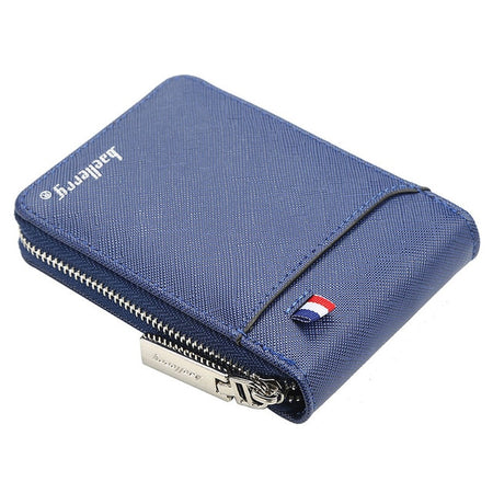 Men's Zipper Wallet Small Short Credit Card Holder