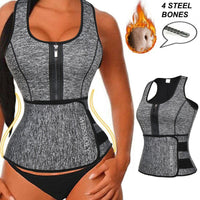Women Neoprene Waist Trainer Sweat Sauna Suit Waist Cincher Slimming Vest Adjustable Waist Trimmer Belt Tank Top Shapewear - E.Y.U Store