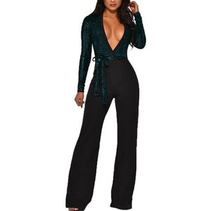 Sequined Slim Women Jumpsuits