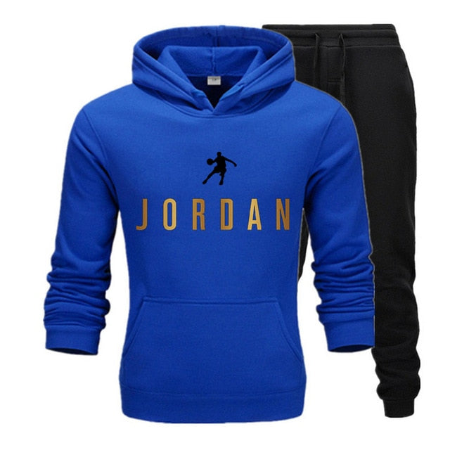 New Fashion Mens Clothing Pullovers Sweater Cotton Men Tracksuits Hoodie Two Pieces + Pants Sports Shirts Fall Winter Track suit - E.Y.U Store