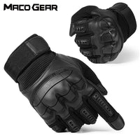 Touch Screen Hard Knuckle Tactical Gloves PU Leather Army Military Combat Airsoft Outdoor Sport Cycling Paintball Hunting Swat - E.Y.U Store