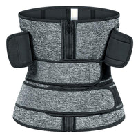 Neoprene Three Belt Waist Cincher Hook and Zip Sweatfit - E.Y.U Store