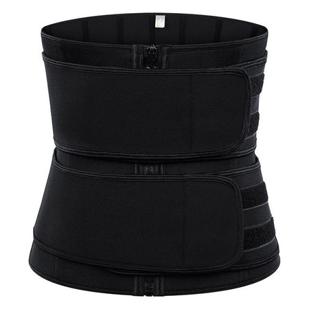 Neoprene Three Belt Waist Cincher Hook and Zip Sweatfit