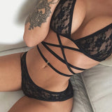 High Quality Erotic Lingerie Women's Sexy Big Yards See-through Lace Underwear Temptation Three Point Suits Sexy Lingerie