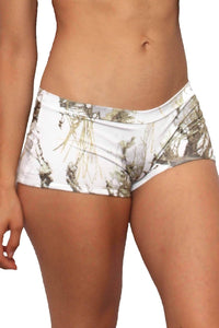 Women's White True Timber Hot Shorts Only Bikini Swimwear - E.Y.U Store