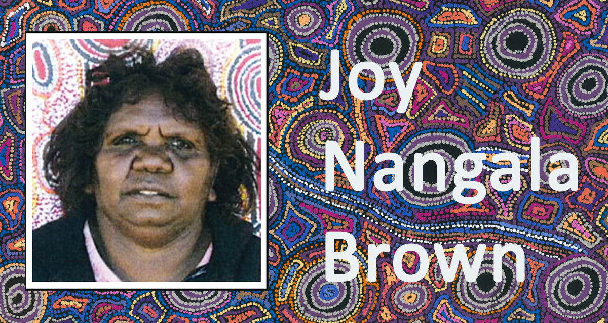 Aboriginal Artist Joy Nangala Brown