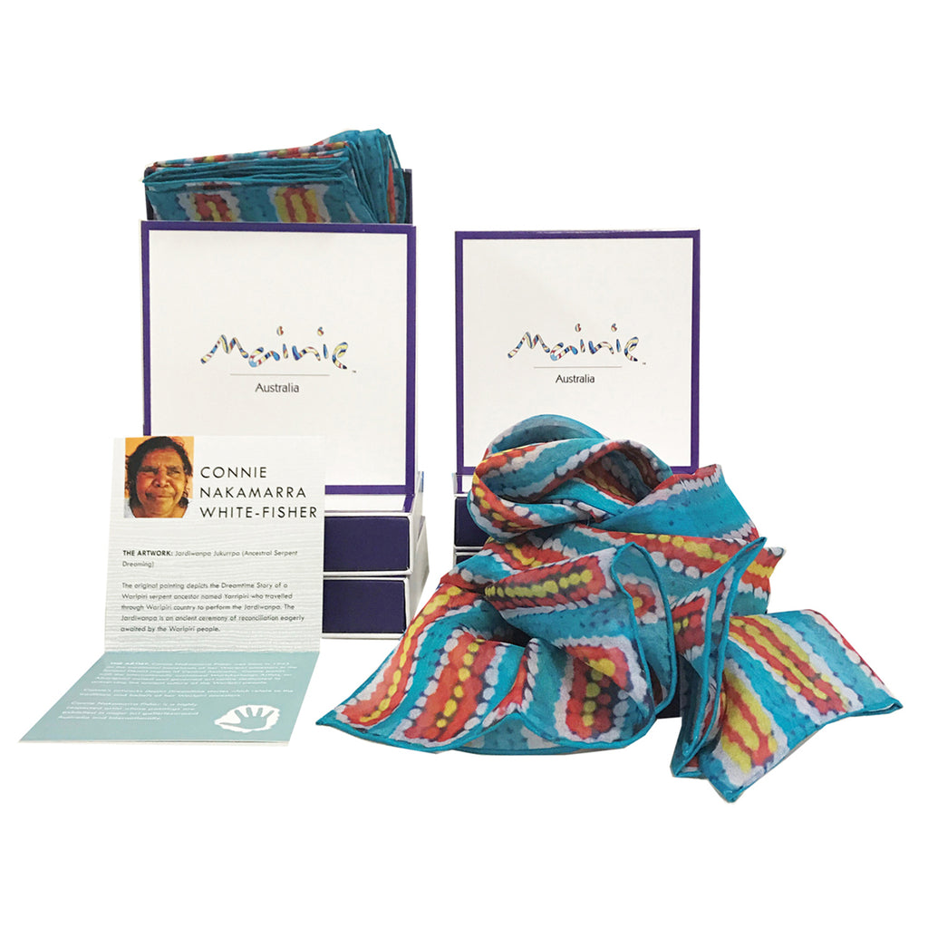 Ancestral Serpent Silk Scarf with gift box