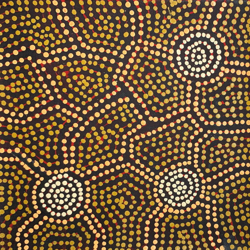 Leedham Jangala Wumi - Country around Kiwirrkurra 30x30cm