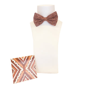Protective Shield Silk Bow Tie & Pocket Square Set