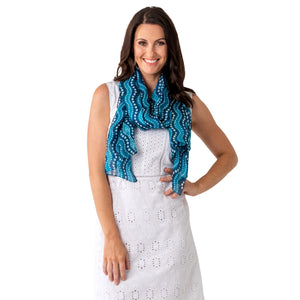 Waves Silk Scarf