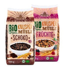 2xPack Crownfield Bio Organic Fruit and Crunchy Chocolate Museli Breakfast Cereals