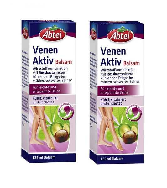 2x Packs ABTEI Veins Active Balm for Cooling Light and Relaxed Legs - Eurodeal.shop