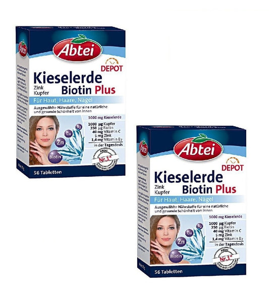 2x Packs ABTEI Silica Biotin Plus Depot Tablets,with Silica Minerals+ - Eurodeal.shop