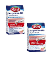 2x Pack Abtei Magnesium 400 Plus Vital Direct - Eurodeal.shop