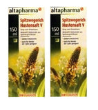 2x Packs Mivolis or Altapharma Herbal (Spitzwegerich) Cough Syrup, 200 ml each