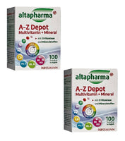2x Pack Altapharma A-Z Depot Multivitamin+Minerals with 21 Vitamins