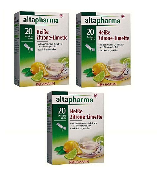 3xPack Altapharma Hot Lemon-Lime Dietary Supplement Sugar & Sweeteners - Eurodeal.shop
