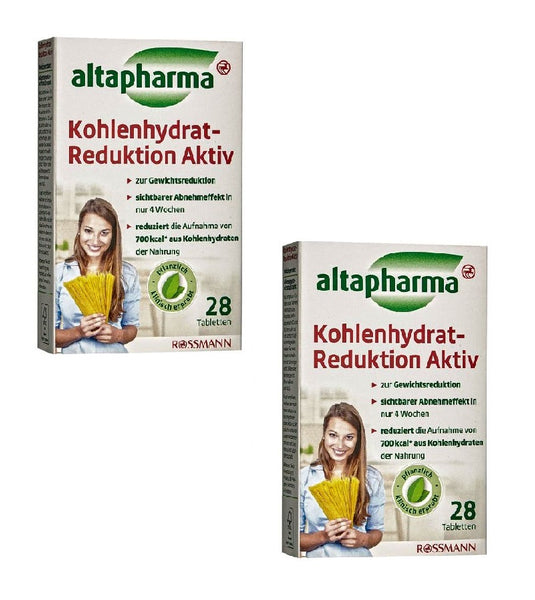 2xPacks Altapharma Carbohydrate Reduction Active (56 Tablets Supply)