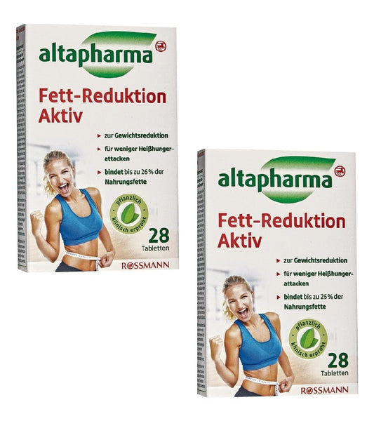 2xPacks Altapharma Fat reduction Active Capsules (Reduce 26% Body Fat)