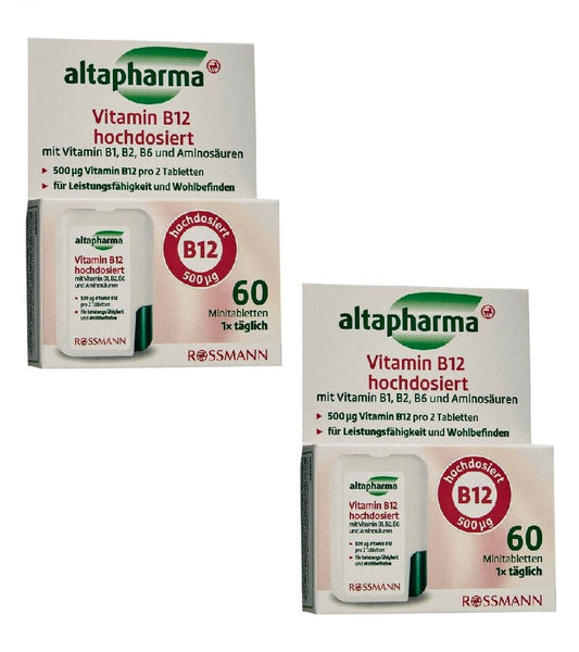 2xPack Altapharma Vitamin B12 High Doses - 120 Minit Tablets