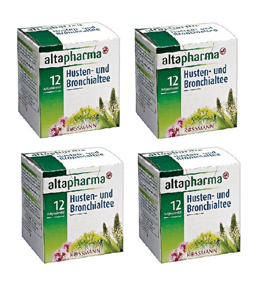 4xPack Altapharma Cough and Bronchial Tea, 12 x1.5 g,18g per pack - Eurodeal.shop
