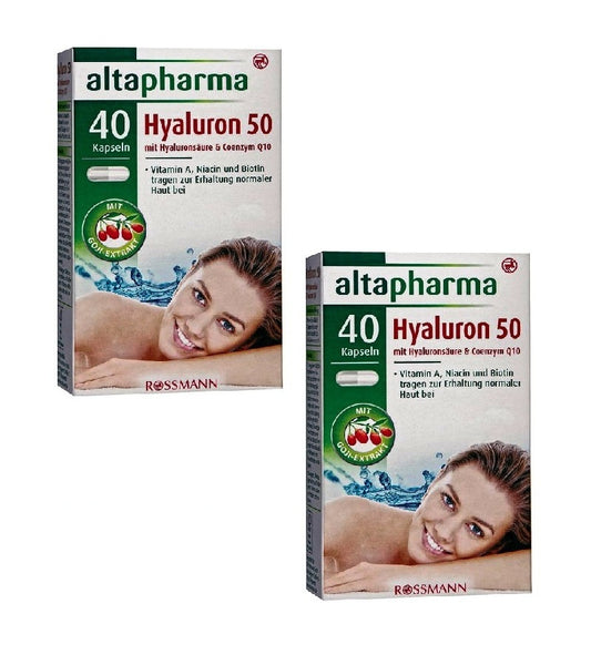 2xPacks Altapharma Hyaluron 50 with Hyaluronic Acid & Coenzyme Q10 - Eurodeal.shop